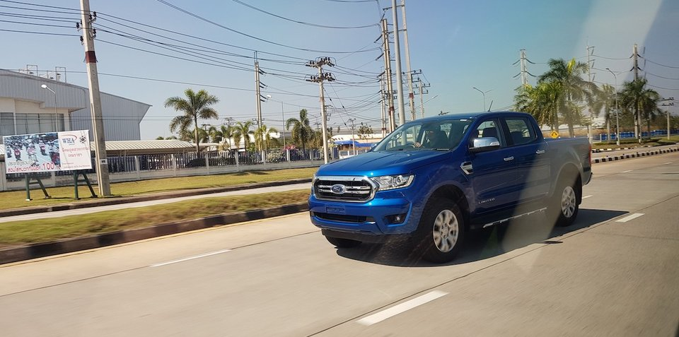 2018 Ford Ranger spied undisguised: New headlights, grille and proximity keyless entry