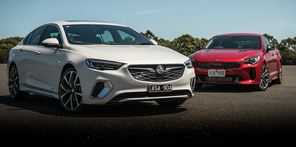 2018 Kia Stinger 330Si v Holden Commodore VXR comparison