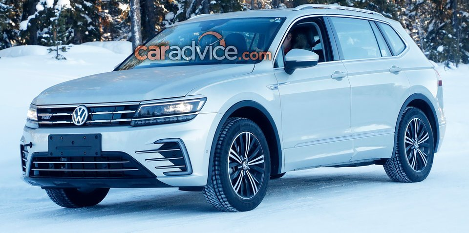 volkswagen tiguan allspace gte spied. Black Bedroom Furniture Sets. Home Design Ideas