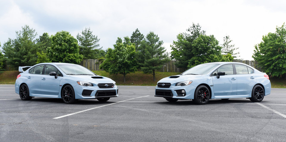 2019 Subaru WRX, WRX STI Series.Gray revealed