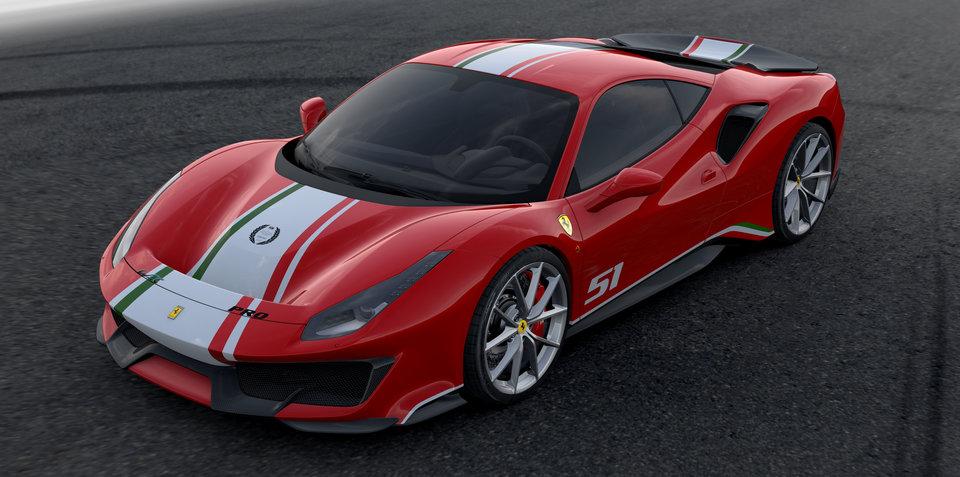 Ferrari 488 Pista 'Piloti Ferrari' announced