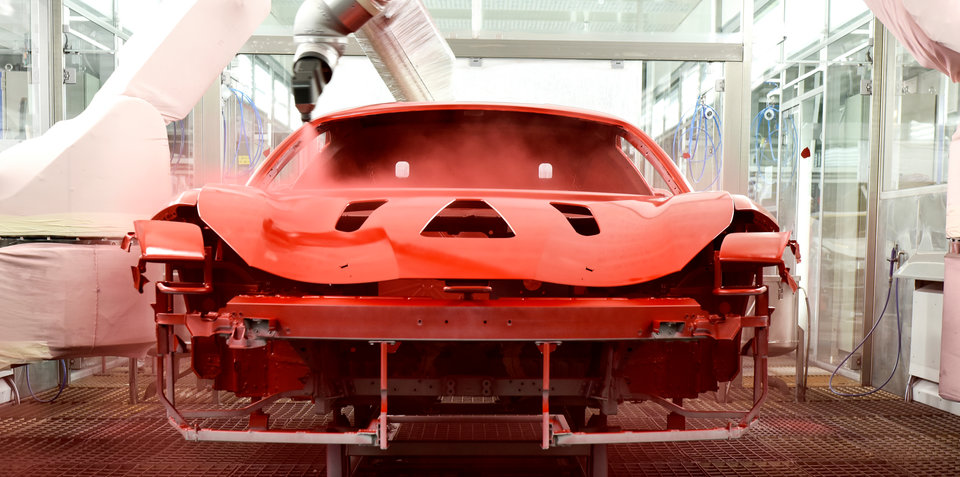 Ferrari debuts world-first 'low-bake' paint finish