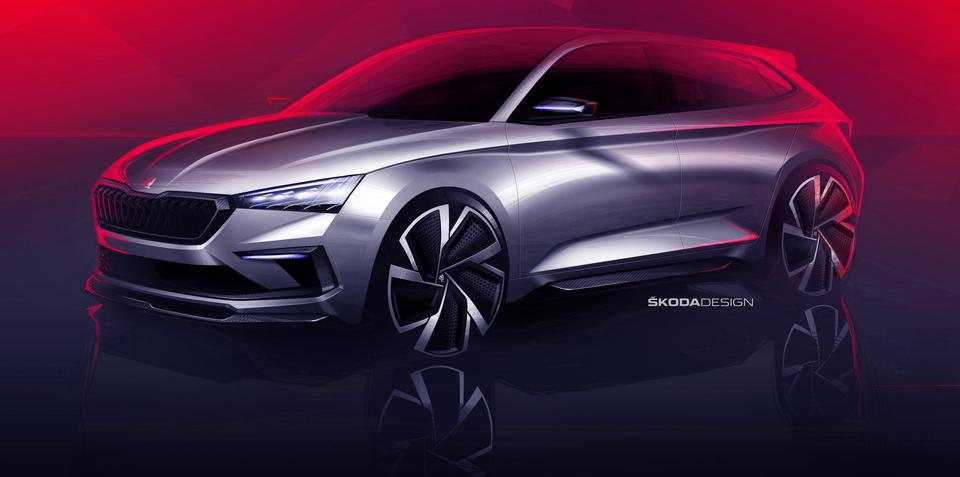 Skoda Vision RS concept teased
