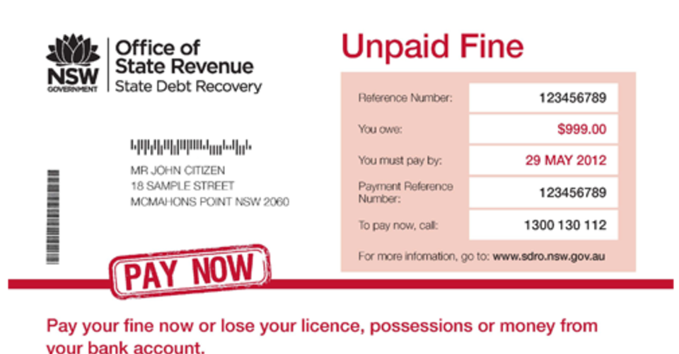Nsw drivers unable to pay fines losing licenses caradvice spiritdancerdesigns Gallery