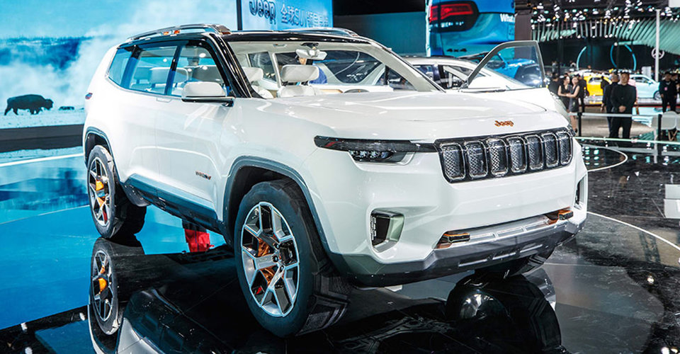 Jeep Yuntu: Three-row concept SUV unveiled in Shanghai ...