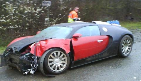 Bugatti car crash