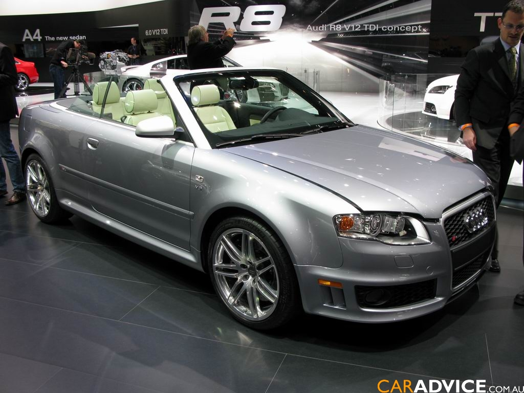 audi rs4 cabriolet 2008 detroit auto show photos. Black Bedroom Furniture Sets. Home Design Ideas