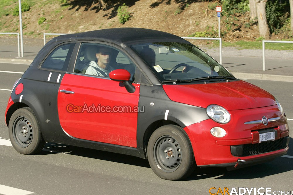 spied fiat 500 cabrio photos caradvice. Black Bedroom Furniture Sets. Home Design Ideas