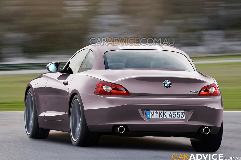 topless 2009 bmw z4 spied and rendered photos caradvice. Black Bedroom Furniture Sets. Home Design Ideas
