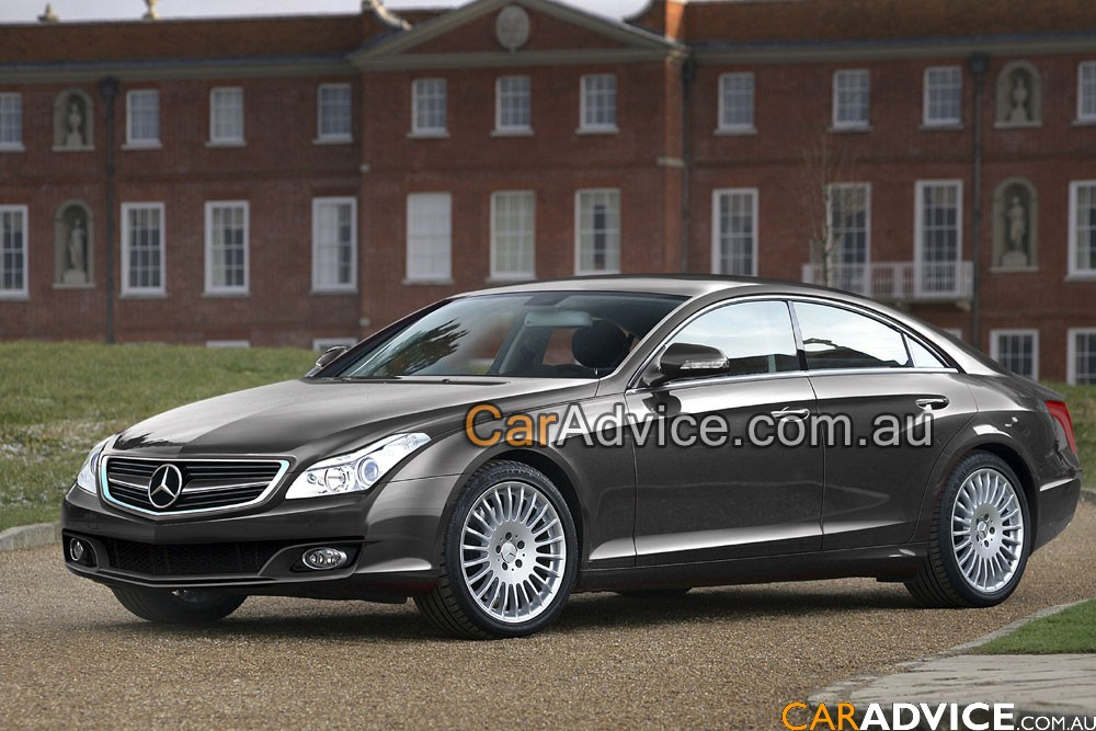 with a first look at Mercedes-Benz's revised CLS model due here in 2011.