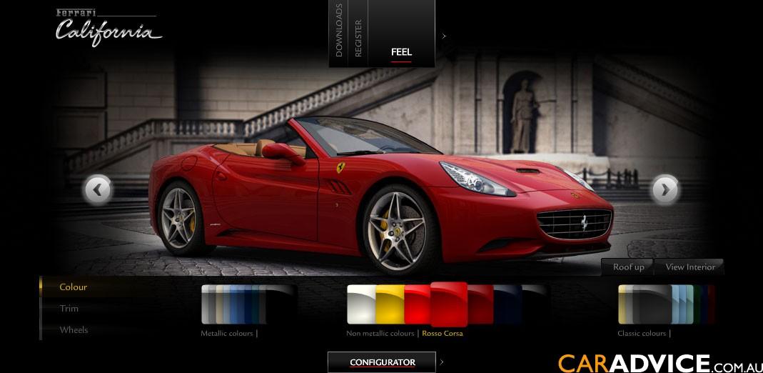 Ferrari release California configurator - photos | CarAdvice