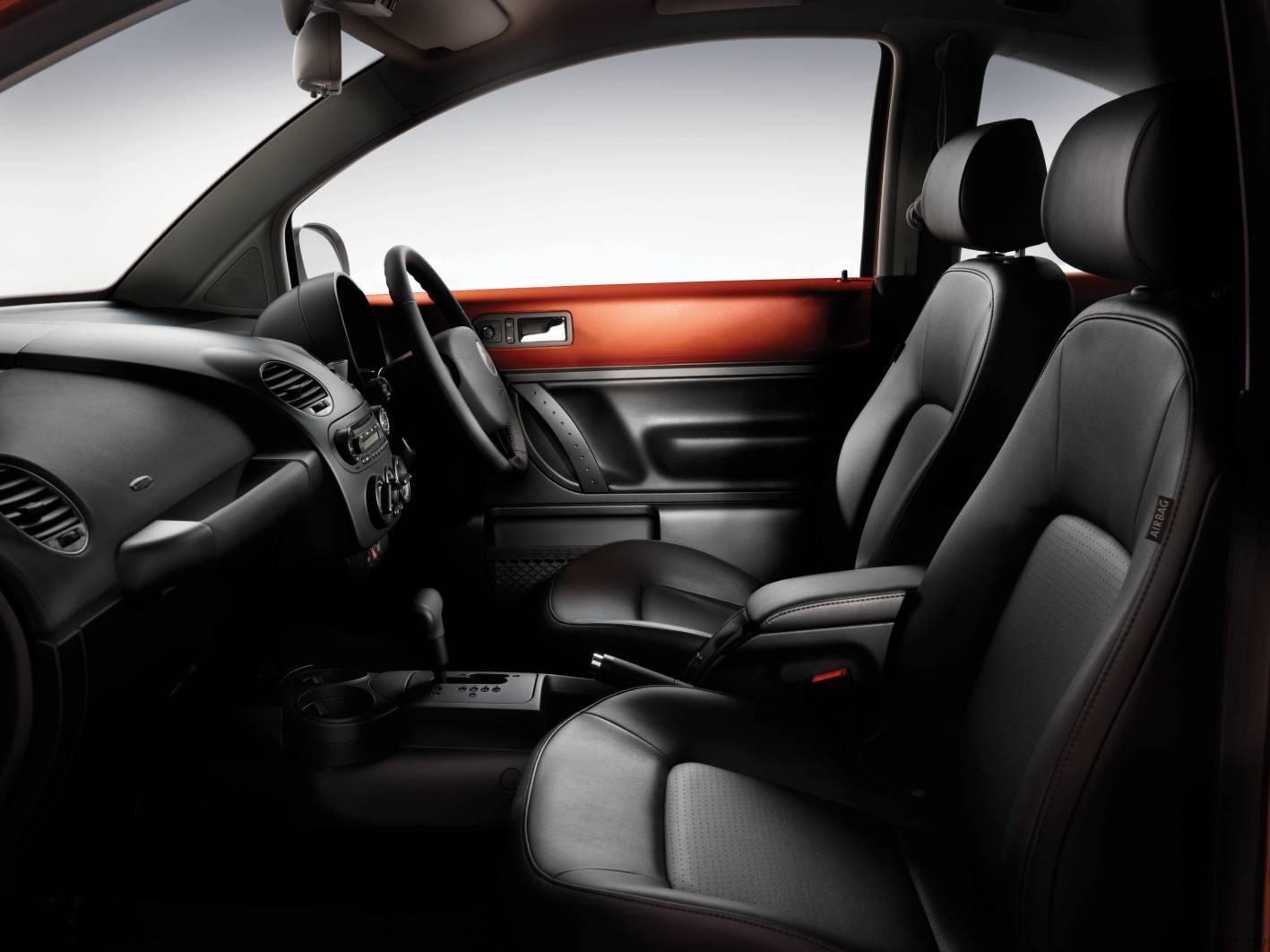 Volkswagen Beetle Blackorange Interior