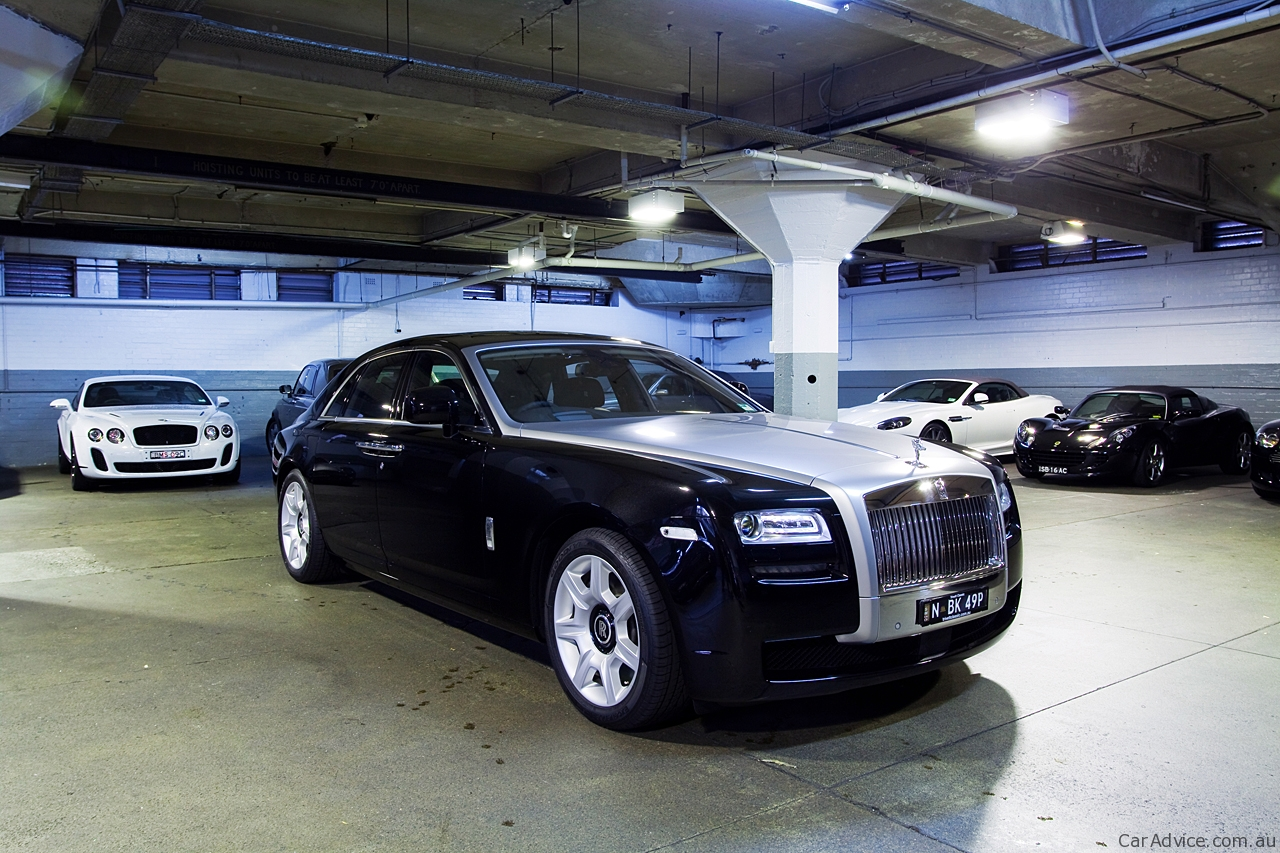 Rolls Royce Ghost on 2010 Toyota Rav 4