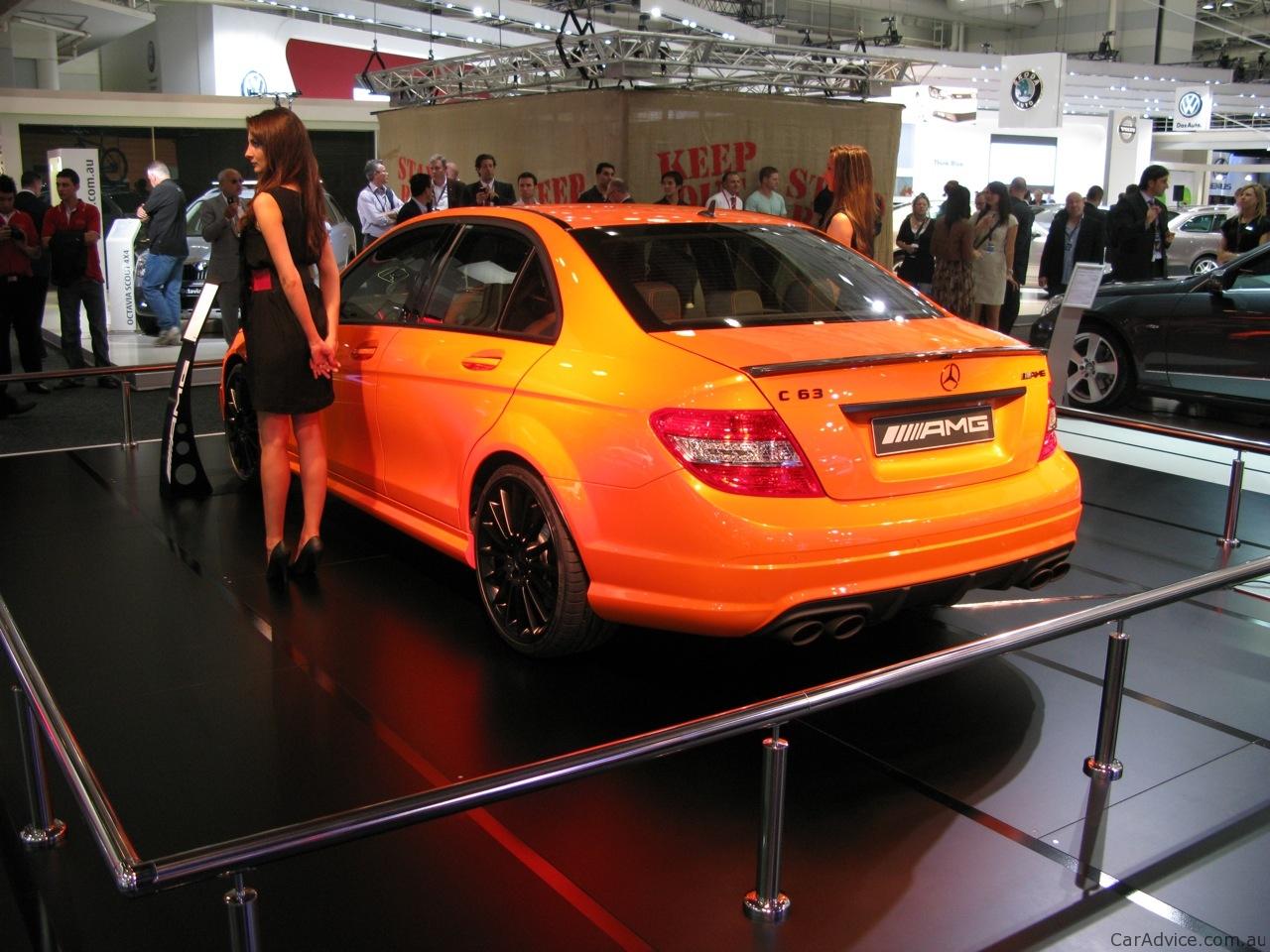Toyota Long Island >> Mercedes-Benz C63 AMG Orange at 2010 AIMS - photos   CarAdvice