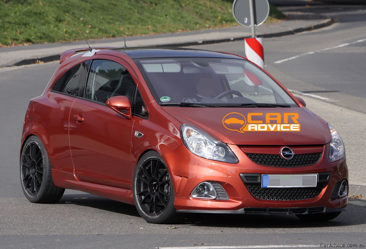 opel corsa opc n rburgring edition spy photos photos caradvice. Black Bedroom Furniture Sets. Home Design Ideas