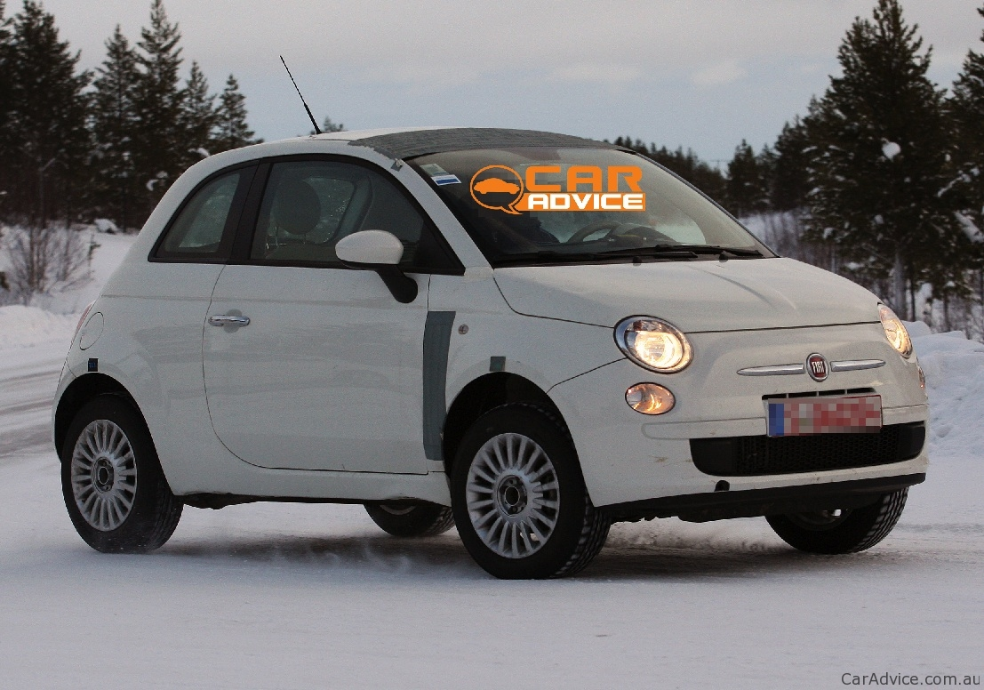 2012 Fiat 500 4x4 Spy Shots During Winter Testing Photos