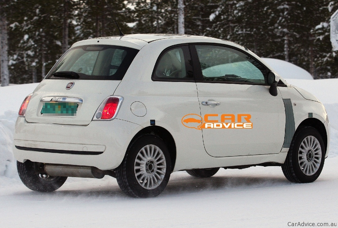 2012 fiat 500 4x4 spy shots during winter testing photos caradvice. Black Bedroom Furniture Sets. Home Design Ideas