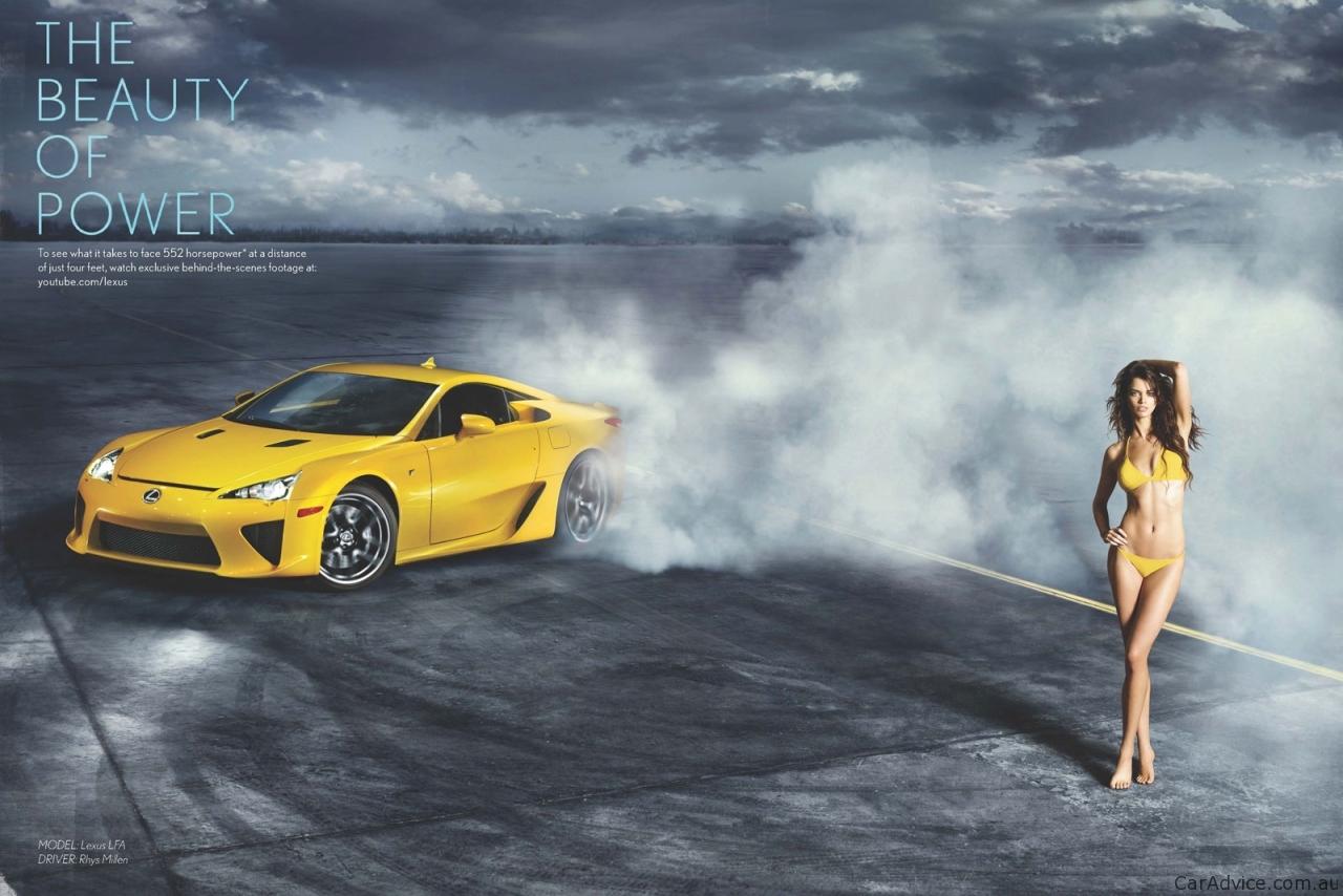 Video Lexus Lfa Supercar And Supermodel Ad Campaign