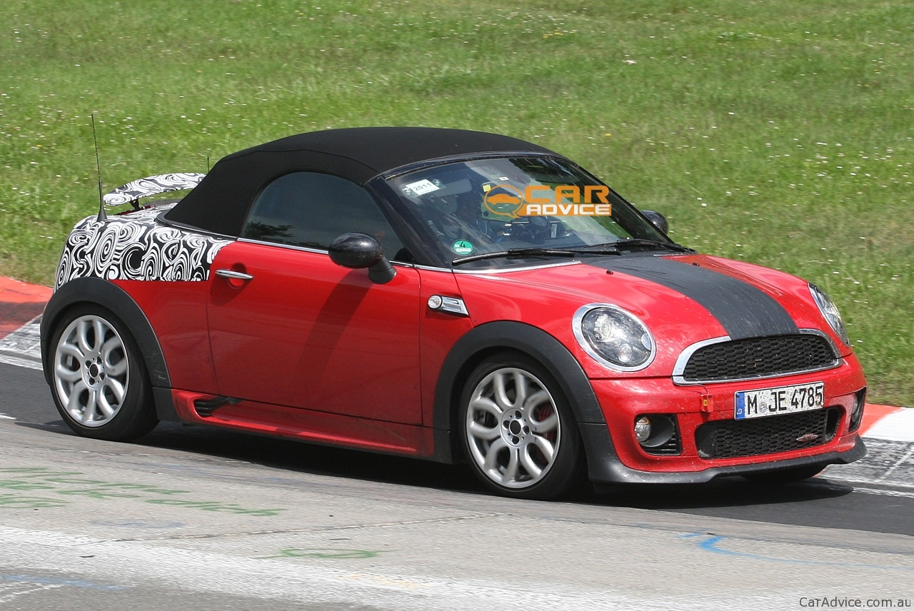 Mini Cooper Models >> 2012 MINI Roadster JCW spied on the Nurburgring - photos ...