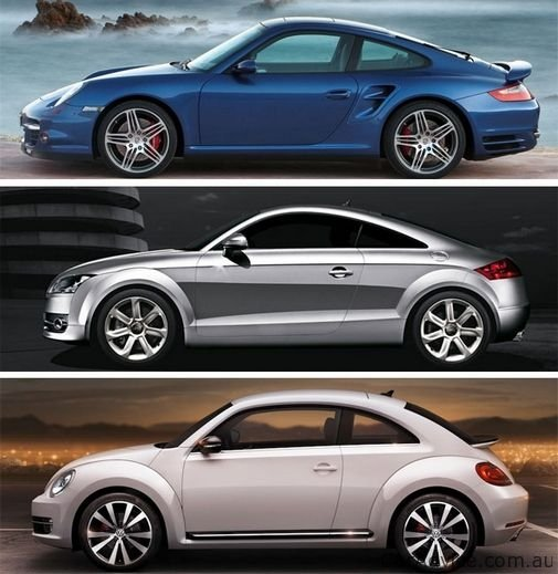 Volkswagen Beetle Compared With Porsche 911 And Audi Tt Photos 1 Of 1