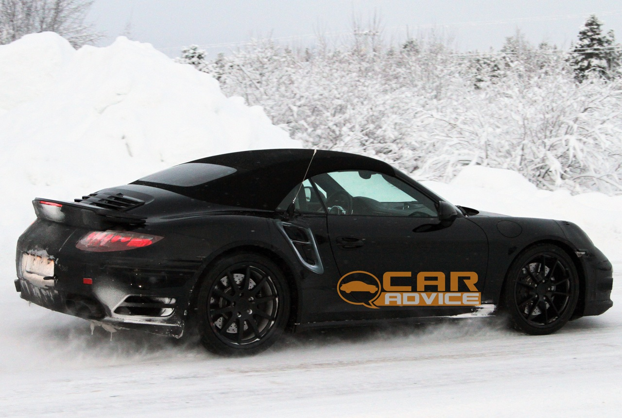 Porsche 911 Turbo Cabriolet Spy Shots Photos Caradvice