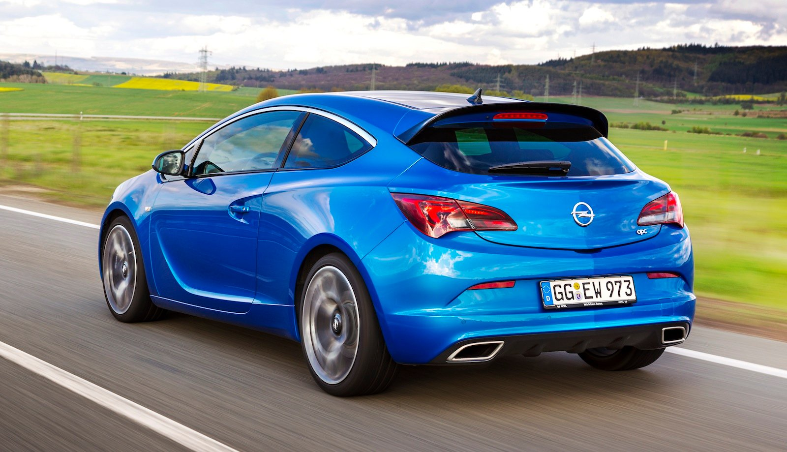 Opel Astra Opc Rear Side Driving on 2011 toyota corolla