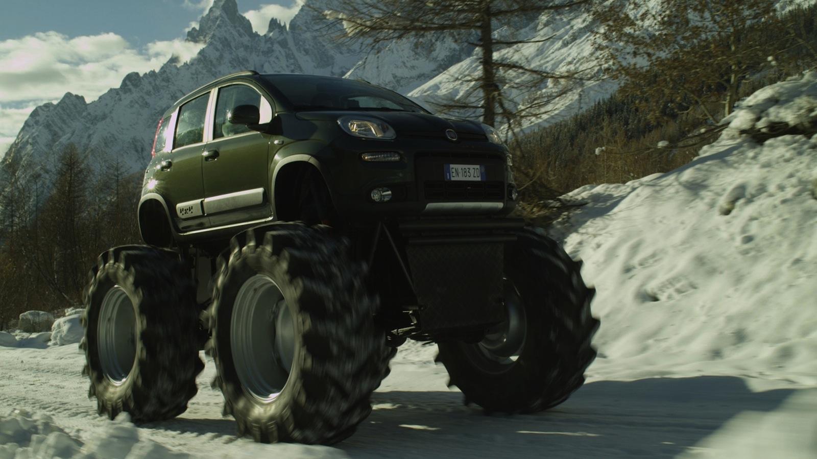 fiat panda 4x4 turns monster truck photos caradvice. Black Bedroom Furniture Sets. Home Design Ideas