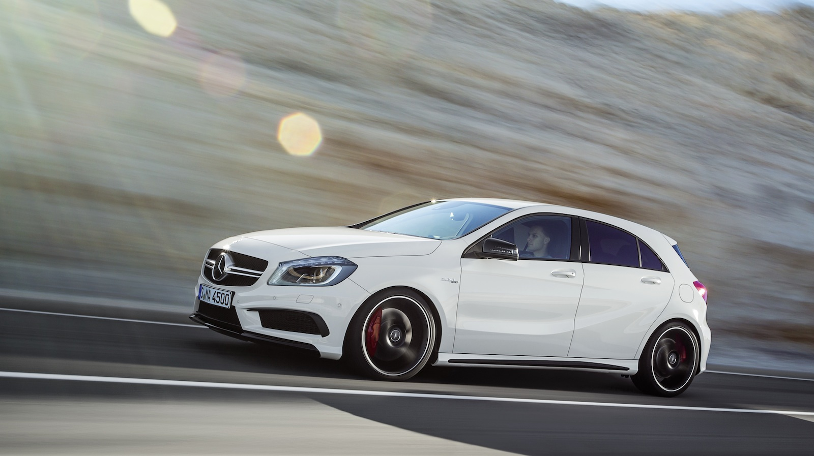 mercedes benz a45 amg 265kw hot hatch unleashed photos. Black Bedroom Furniture Sets. Home Design Ideas