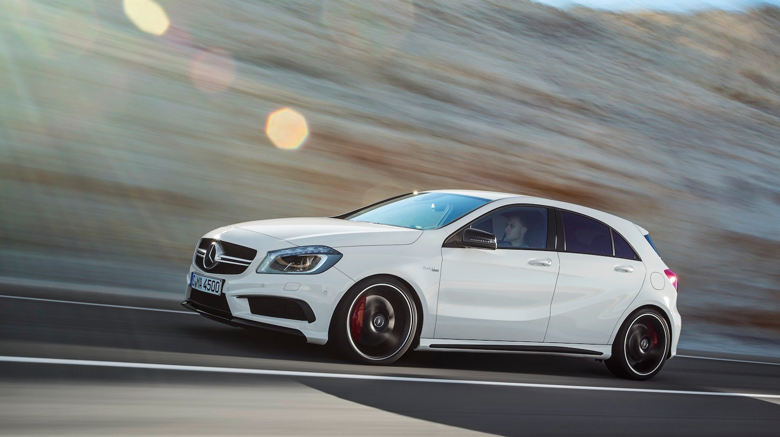 Mercedes benz a45 amg 265kw hot hatch unleashed photos for Mercedes benz small car