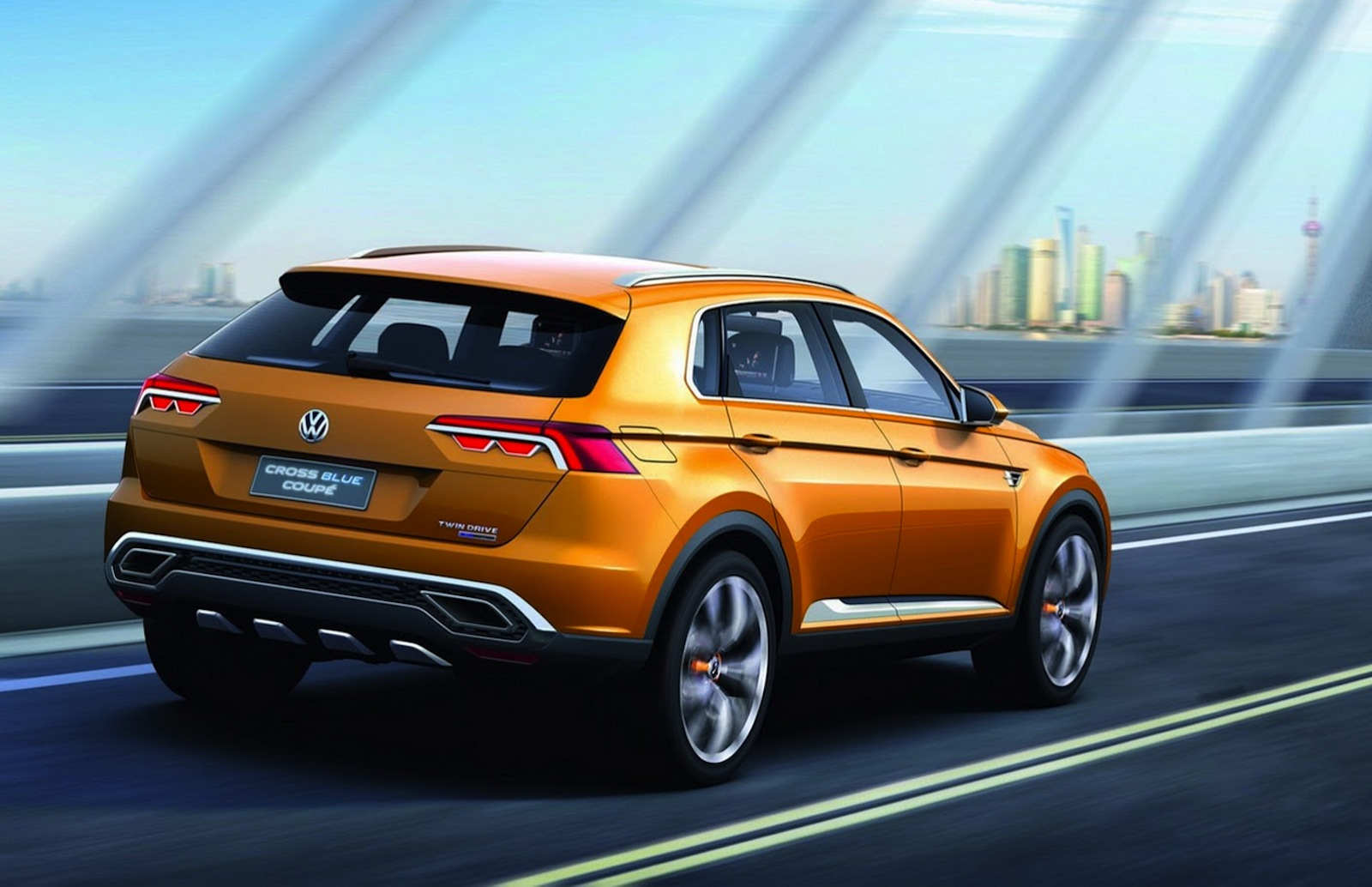 Volkswagen CrossBlue Coupe concept: Germany's Evoque ...