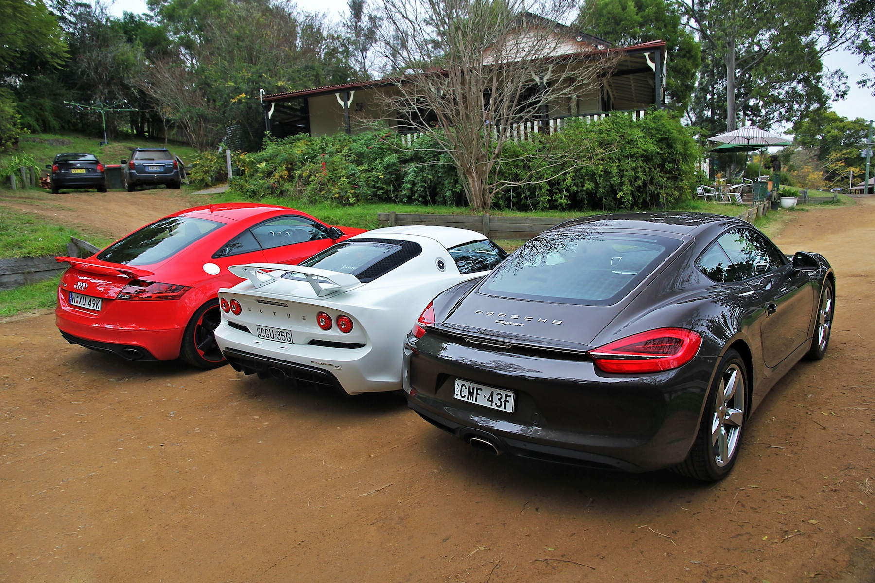 Sports car comparison: Porsche Cayman v Audi TT RS v Lotus Exige S - Photos