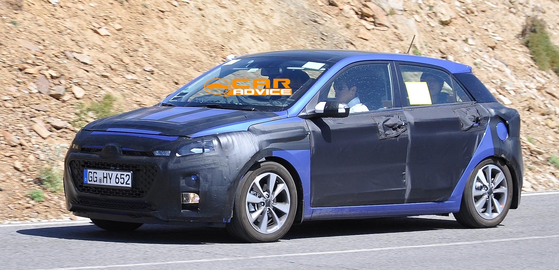 2016 Hyundai Santa Fe >> Hyundai i20: second-gen city car spied with less camouflage - photos   CarAdvice