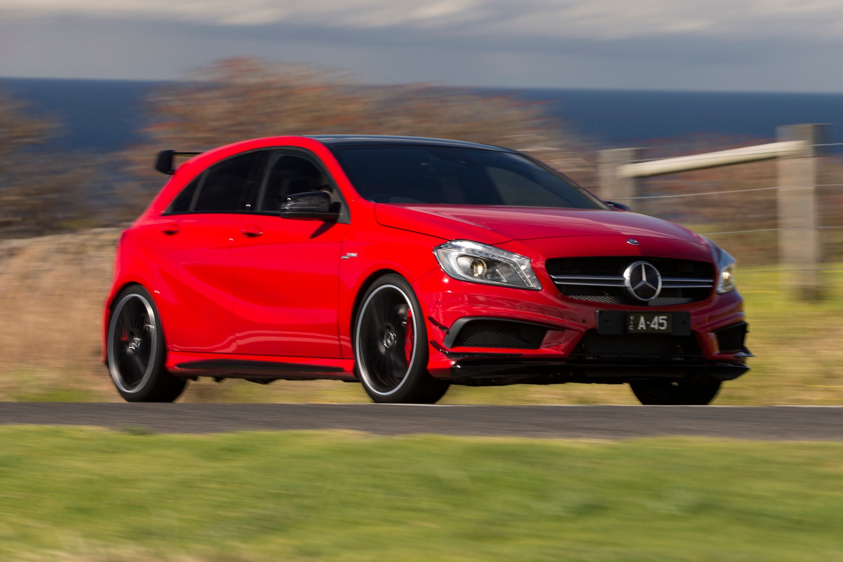 Mercedes benz a45 amg review photos caradvice for Mercedes benz in md