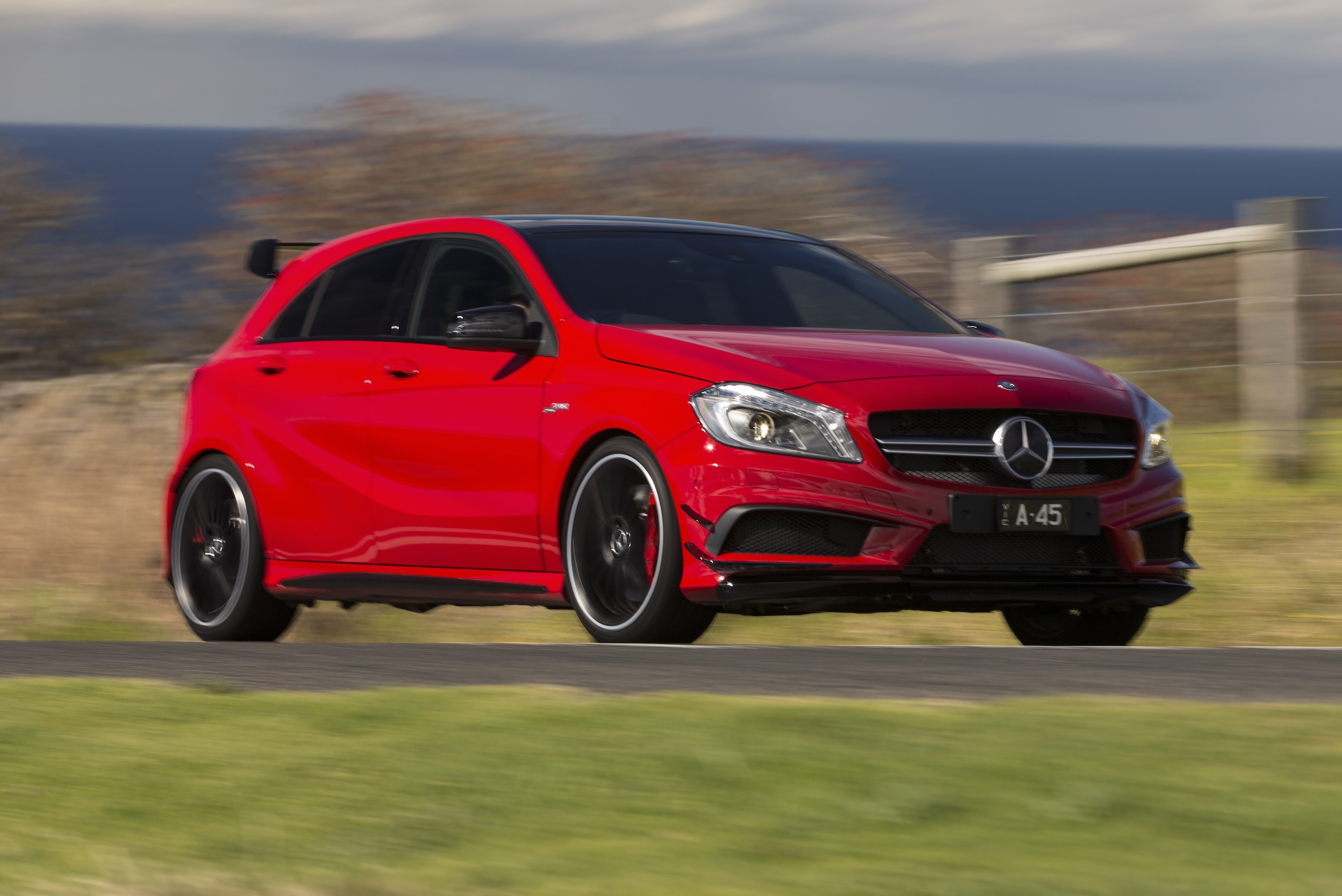 mercedes benz a45 amg review caradvice. Black Bedroom Furniture Sets. Home Design Ideas