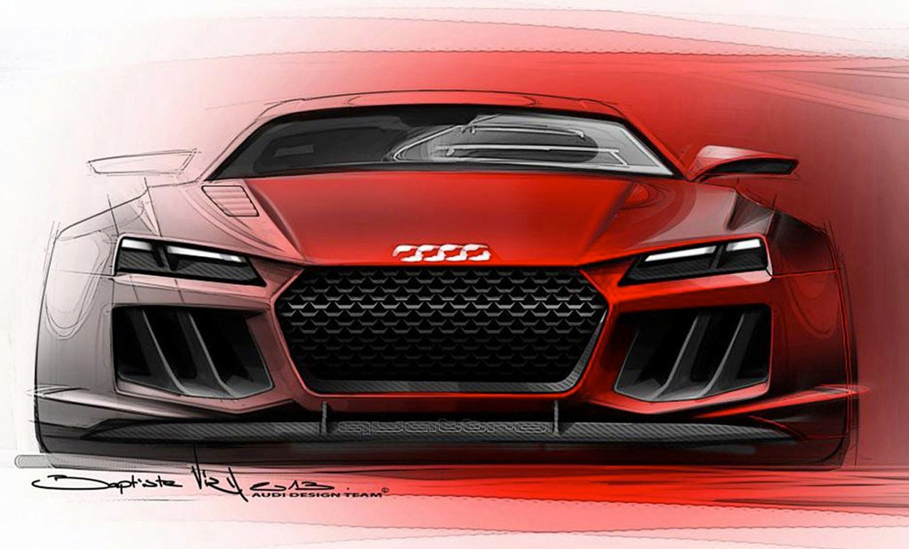 Audi Quattro Sport E Tron Concept Sketches Leaked Photos