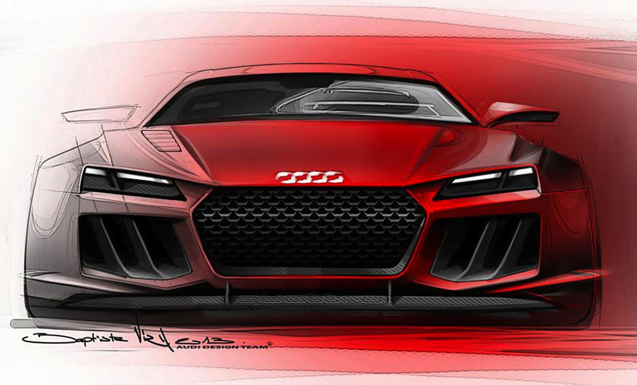 Audi Quattro Sport e-tron concept sketches leaked - photos ...