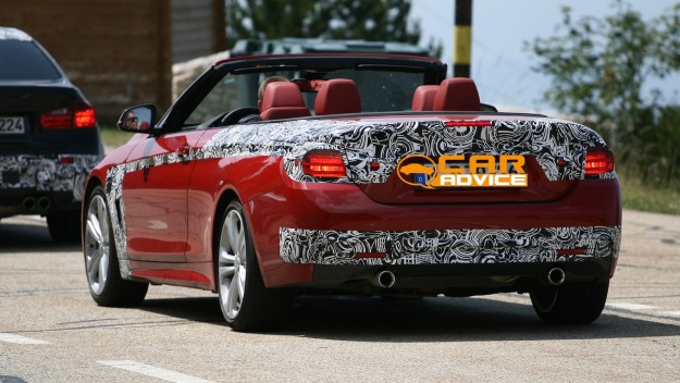 Bmw 4 Series Convertible Spied With Its Roof Down Photos Caradvice