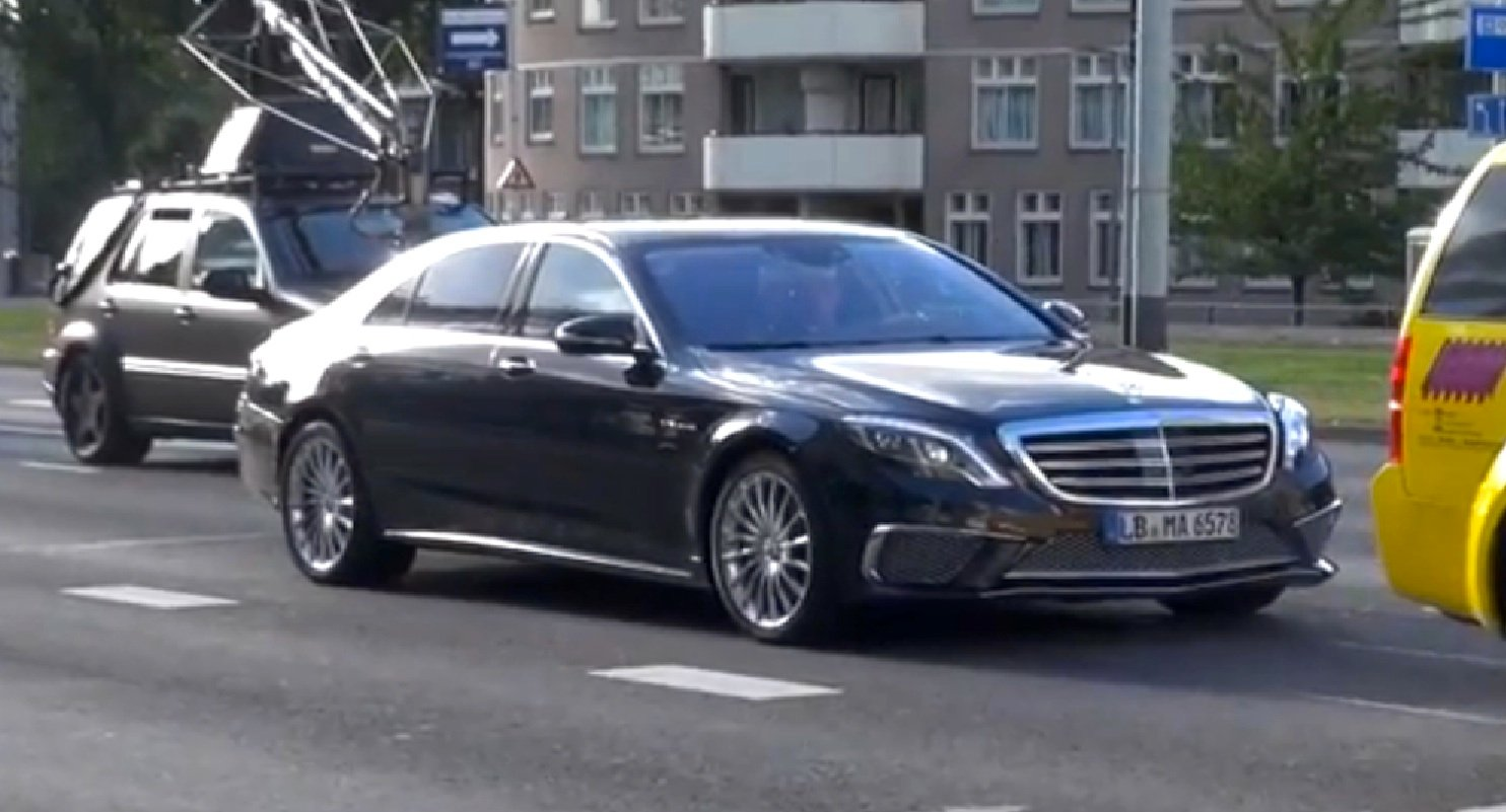 mercedes benz s65 amg performance limousine caught filming photos caradvice. Black Bedroom Furniture Sets. Home Design Ideas