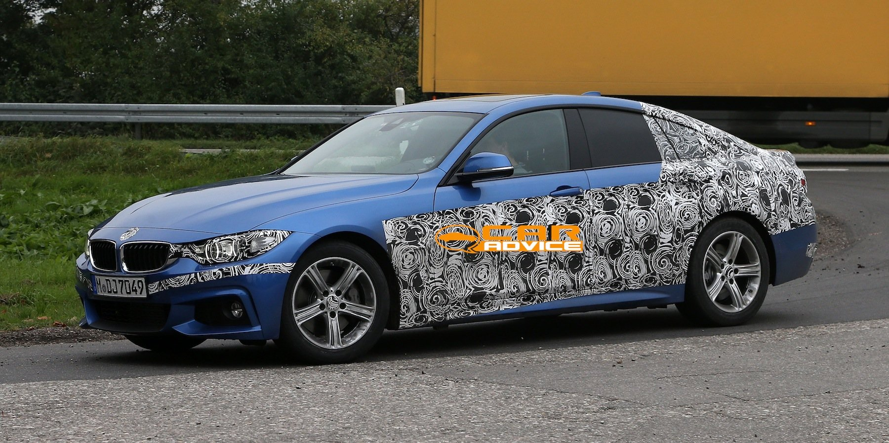 Bmw 4 Series Gran Coupe Four Door Spied With M Sport Pack