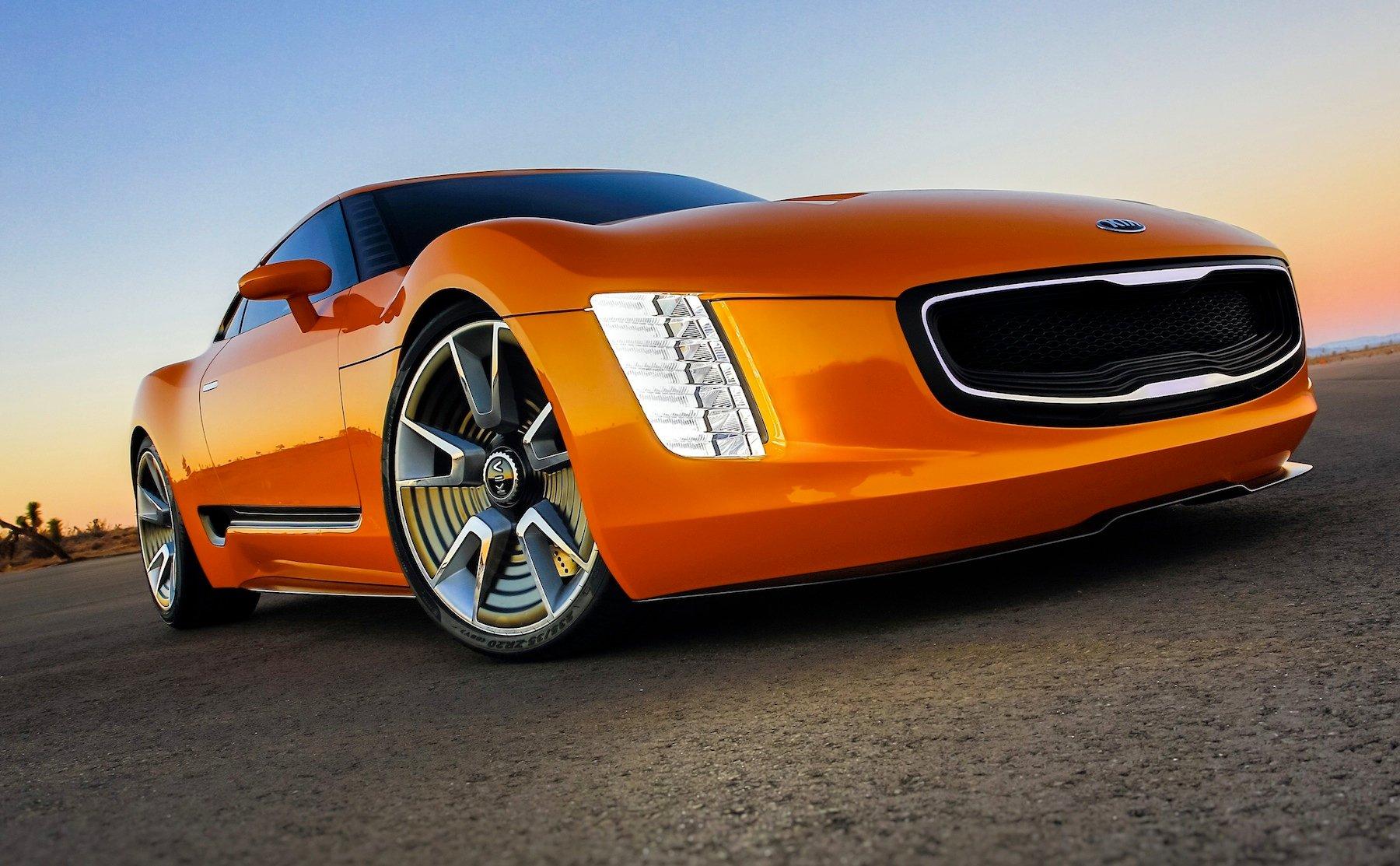 kia gt4 stinger aggressive sports car concept unveiled photos 1 of 9. Black Bedroom Furniture Sets. Home Design Ideas
