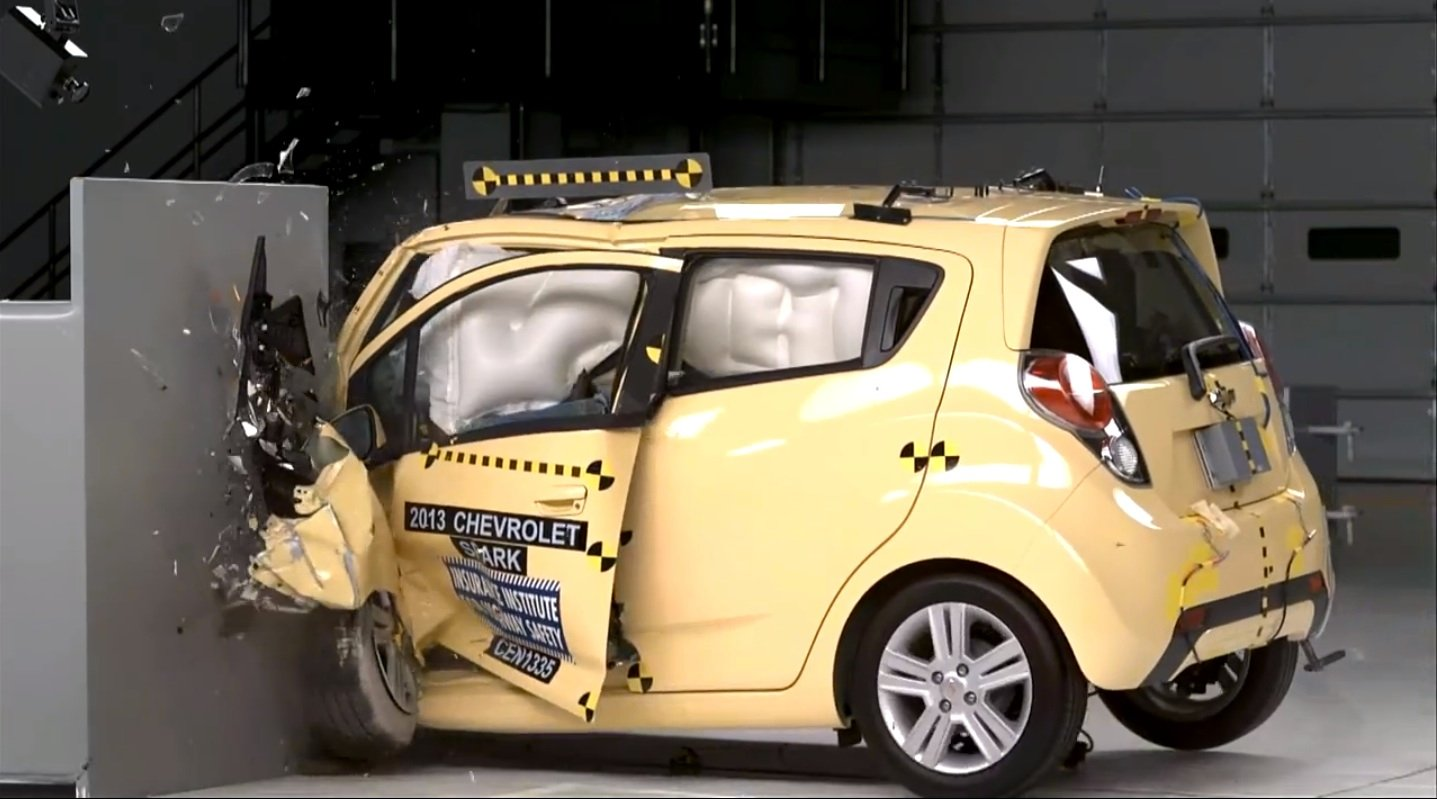 Holden Barina Spark : US twin tops city cars in IIHS crash ...
