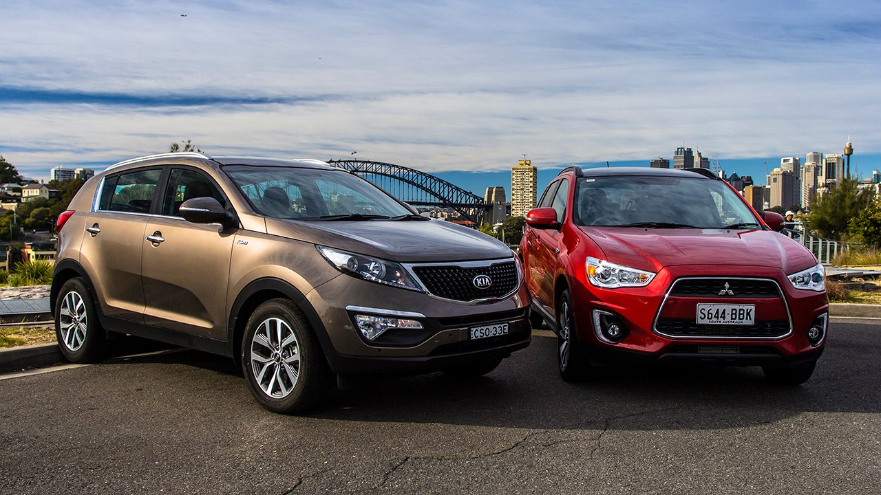 Kia Sportage V Mitsubishi Asx Comparison Review Photos 1 Of 58