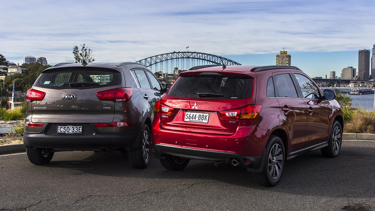 Kia Sportage v Mitsubishi ASX: Comparison review - Photos