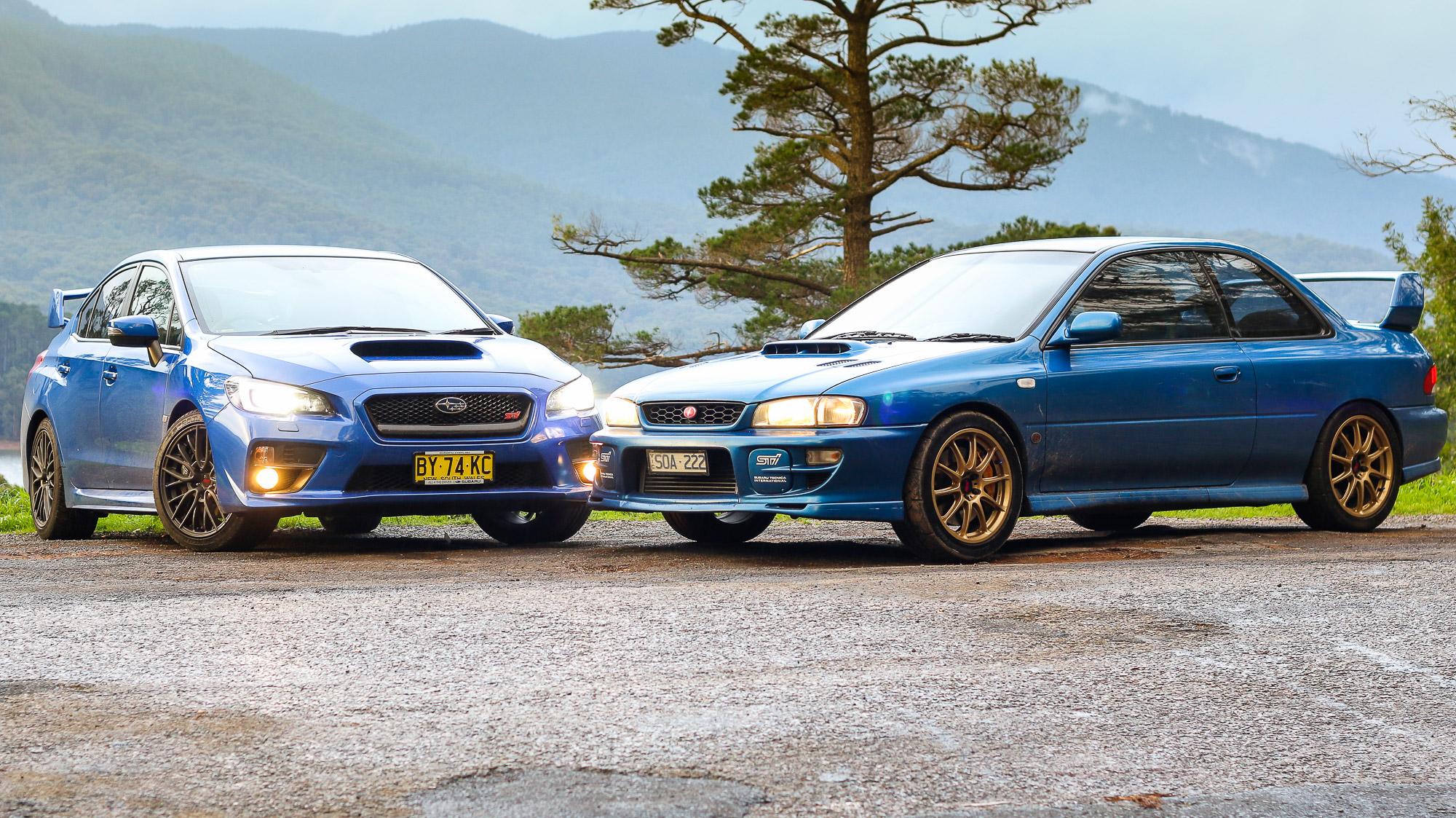 Subaru Wrx Sti Old V New Comparison 2015 Sedan V 1999 Two