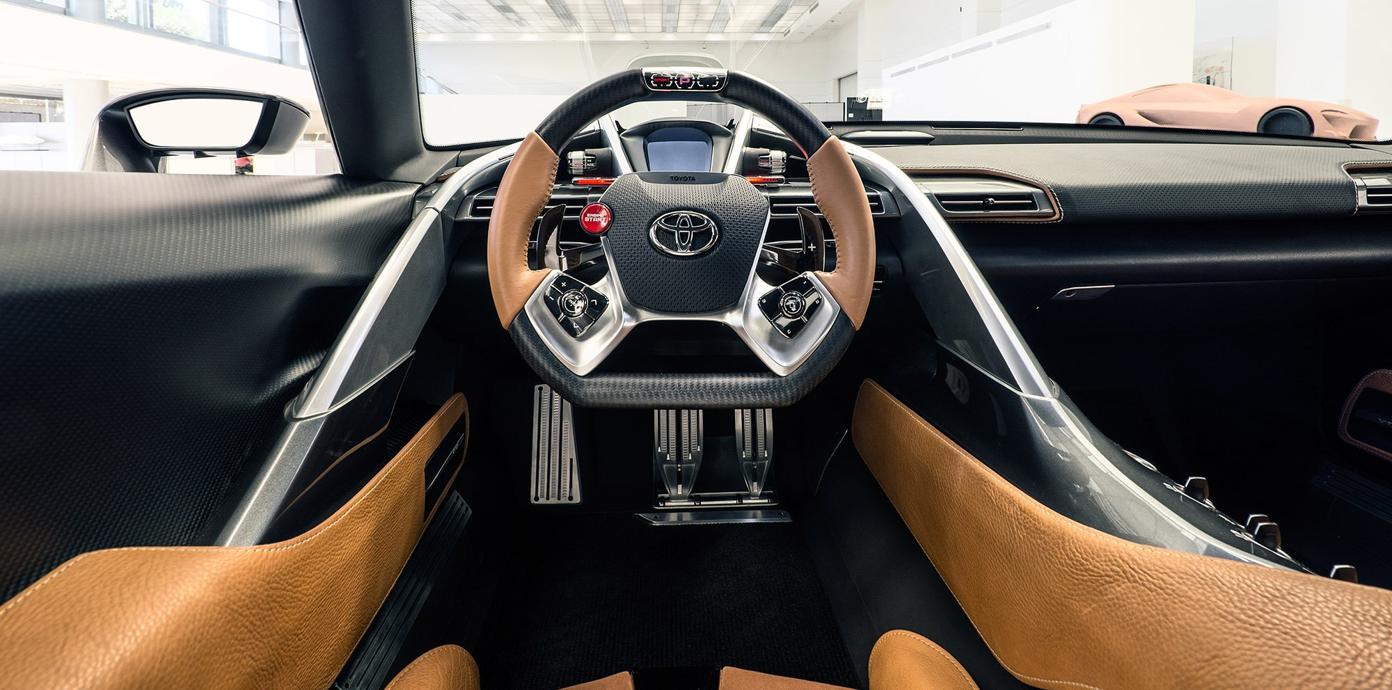 toyota ft 1 concept car sports new grey exterior classier interior photos caradvice. Black Bedroom Furniture Sets. Home Design Ideas