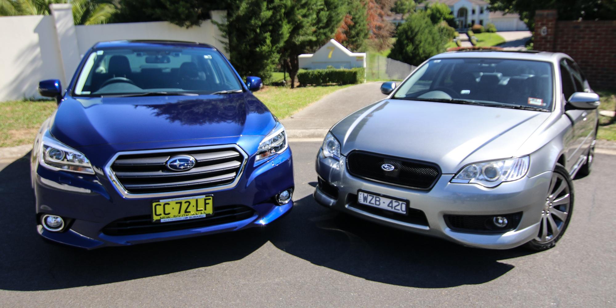 Subaru Legacy 3 6 R >> Subaru Liberty Old v New Comparison: Fourth-generation 3.0R v sixth-gen 3.6R - Photos