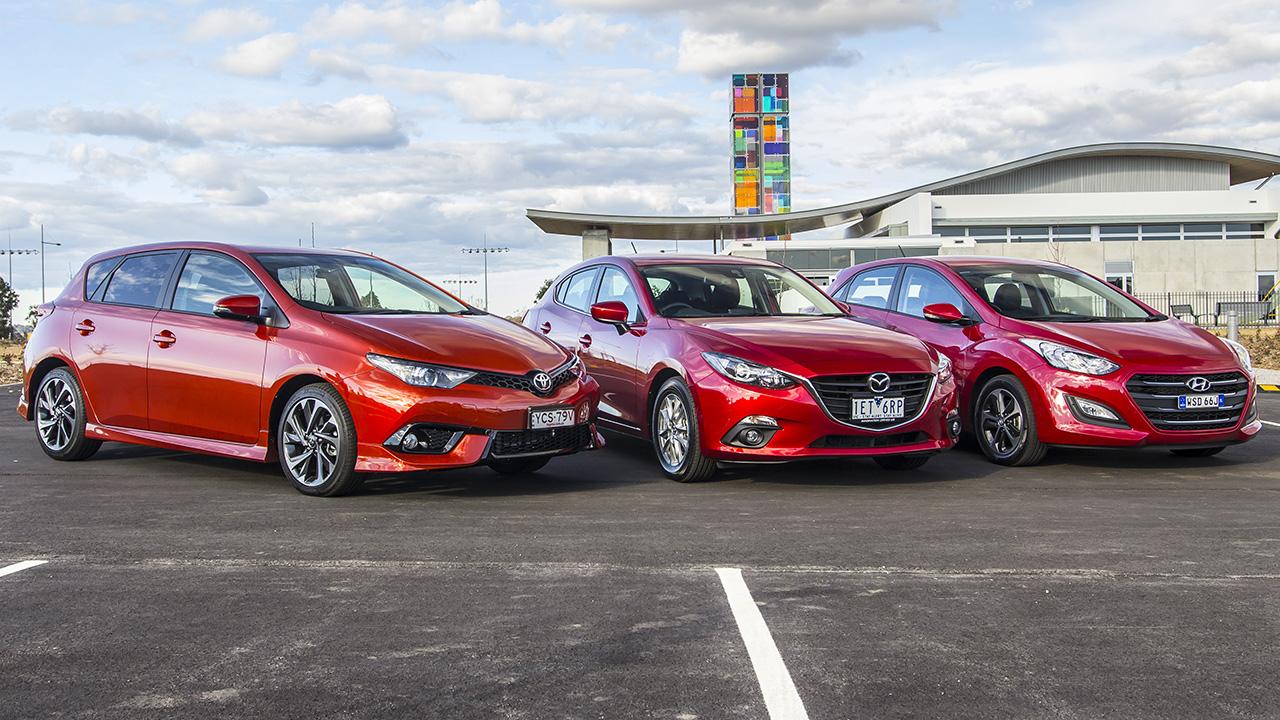 Small Car Comparison Review : Corolla, 3, i30