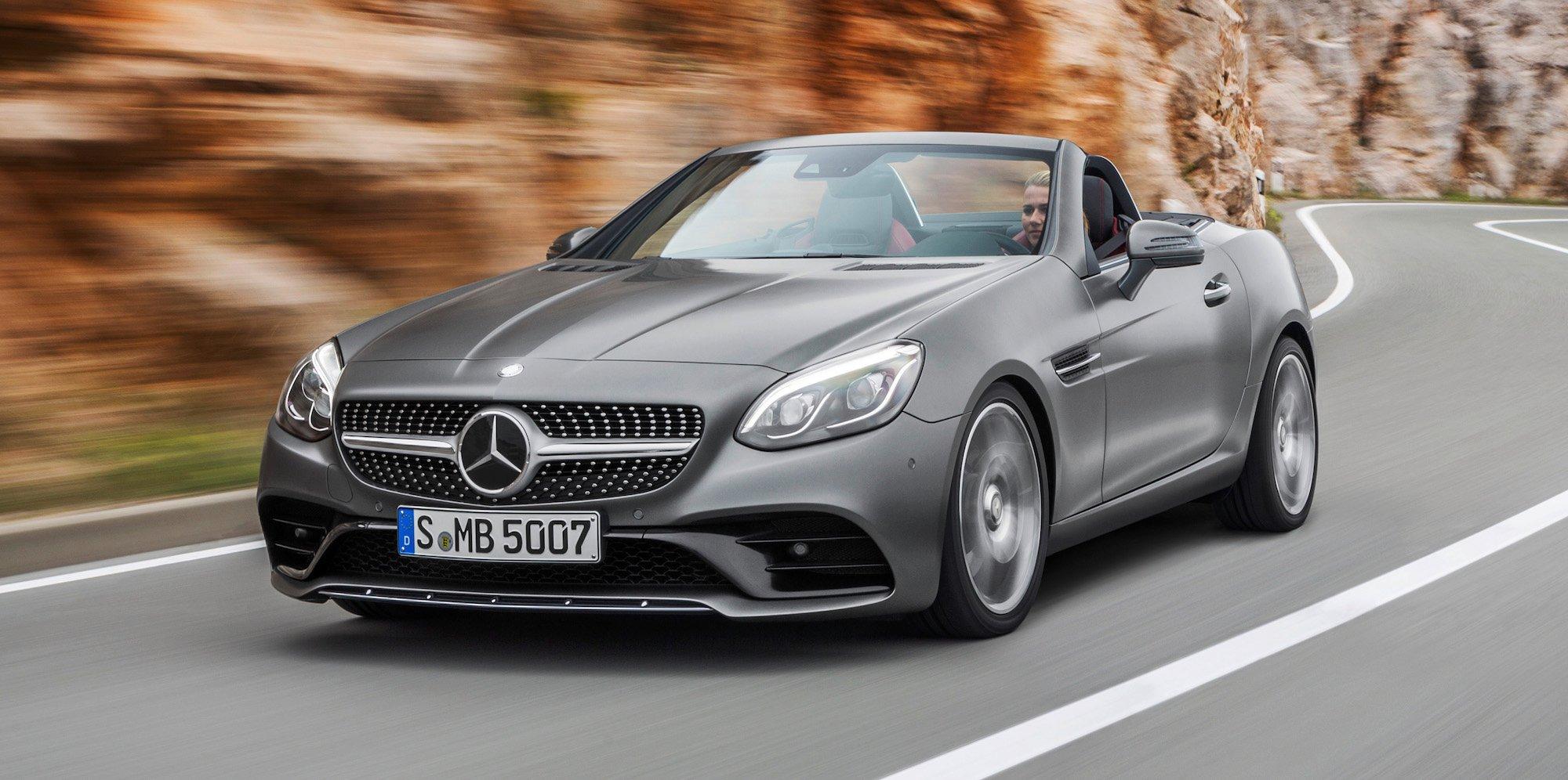 2016 mercedes benz slc revealed mercedes amg slc43 v6 for Mercedes benz slk 2018