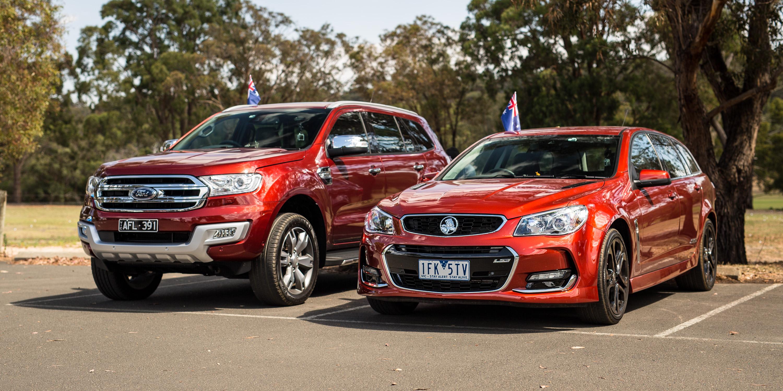 Ford Everest v Holden Sportwagon: 2016 Australia Day Special - Photos