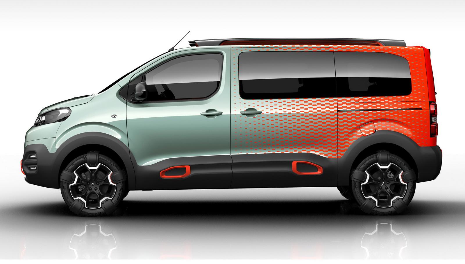 Citroen Spacetourer Minibus Hyphen 4wd Concept Detailed